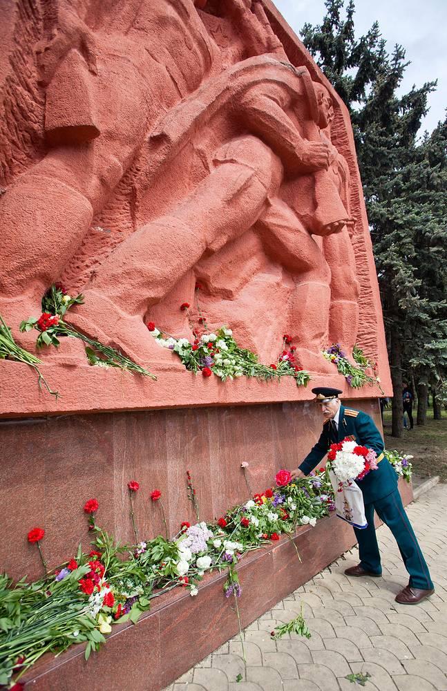Мемориал Победы в Кишиневе. Молдавия, 9 мая 2014 года