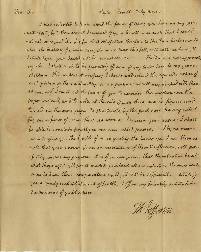 Письмо Томаса Джефферсона