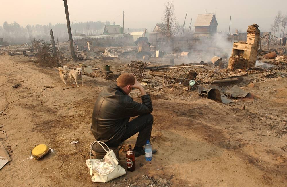 После пожара в дачном поселке Забайкалец, 2008 год