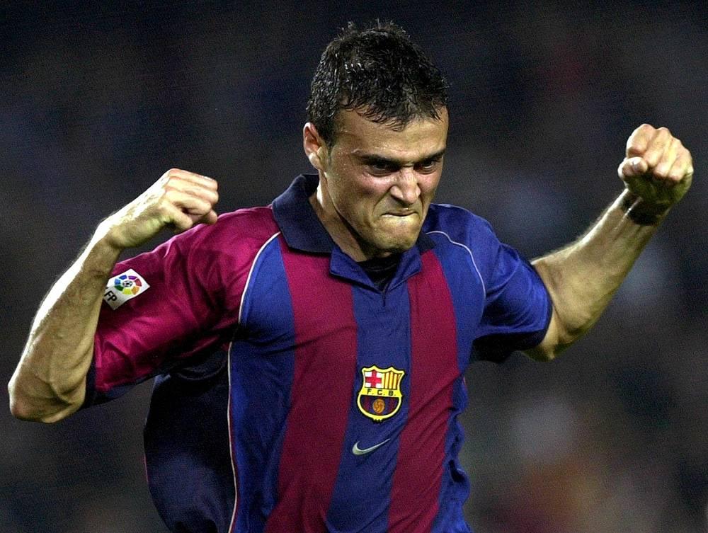 """Игрок """"Барселоны"""" Луис Энрике, 2001 год"""