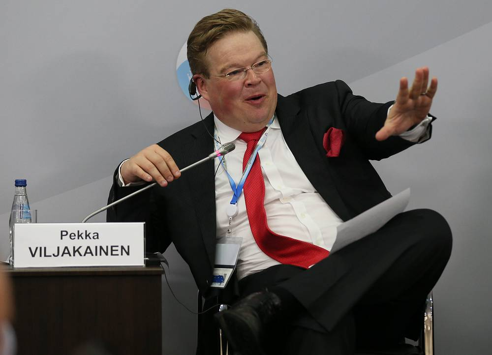 """Советник президента фонда """"Сколково"""" Пекка Вильякайнен во время панельной сессии """"Новый источник роста экономики? Состояние российской инновационной платформы"""""""