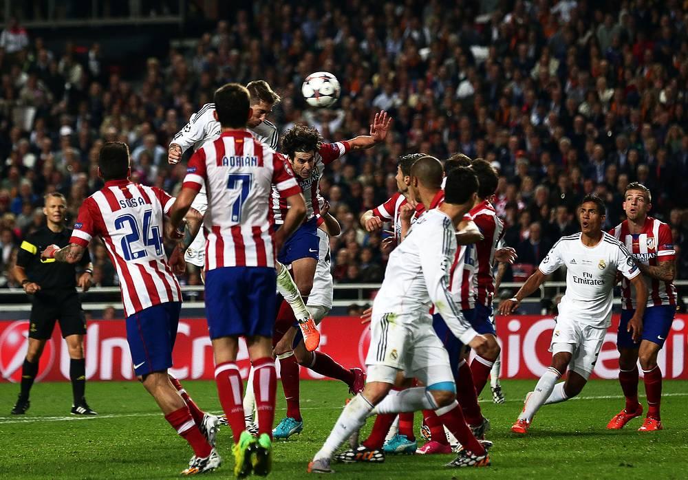 """""""Реал"""" сумел перевести игру в дополнительное время, гол на счету Серхио Рамоса"""
