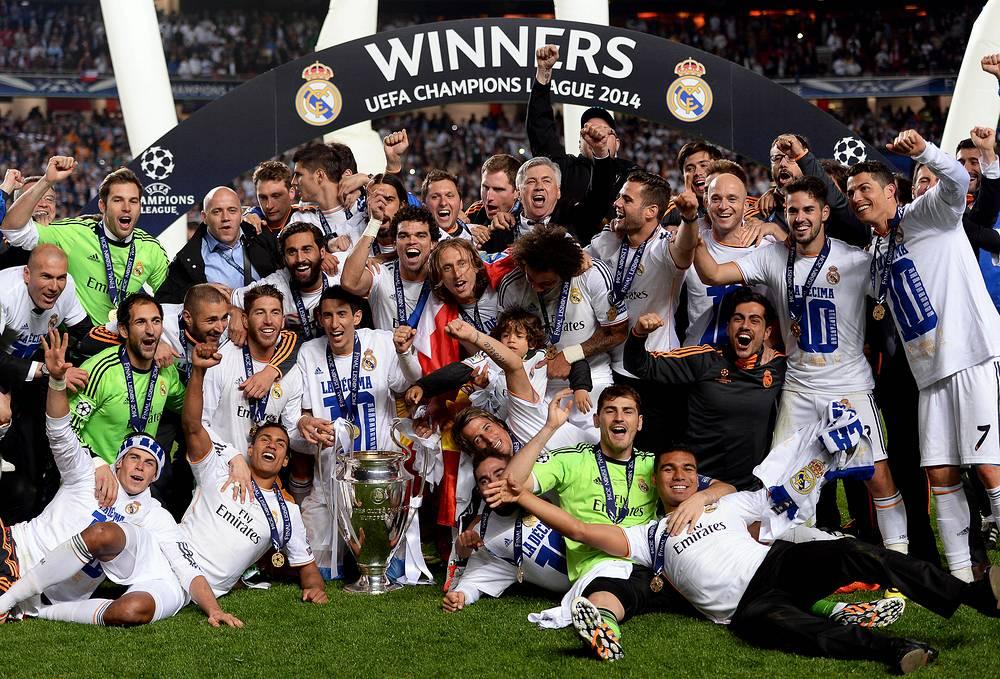 """Футболисты """"Реала"""" во время празднования победы"""