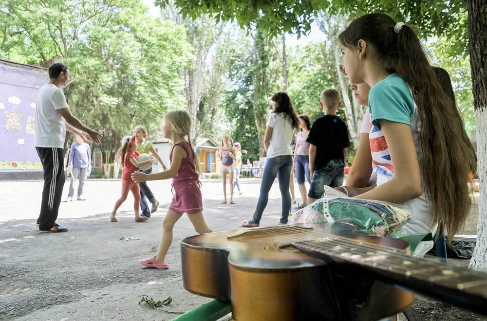 Беженцы с юго-востока Украины в Ростовской области