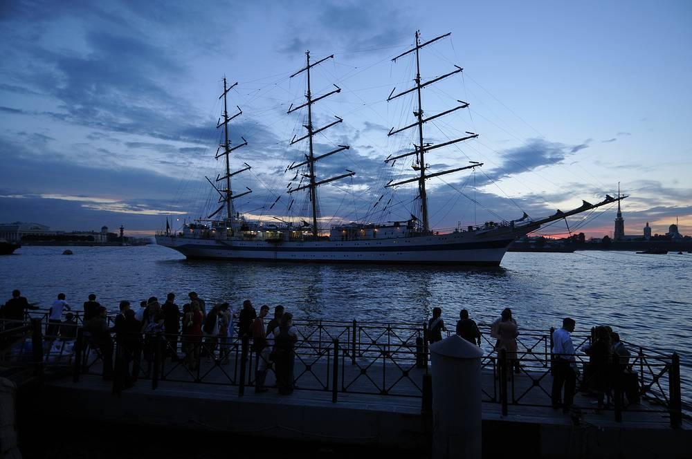 В параметры гражданских сумерек Петербург слегка не вписался, так как в пик белых ночей - 21 июня, Солнце опускается под горизонт на 6,5 градусов (этот показатель должен быть меньше 6 градусов)