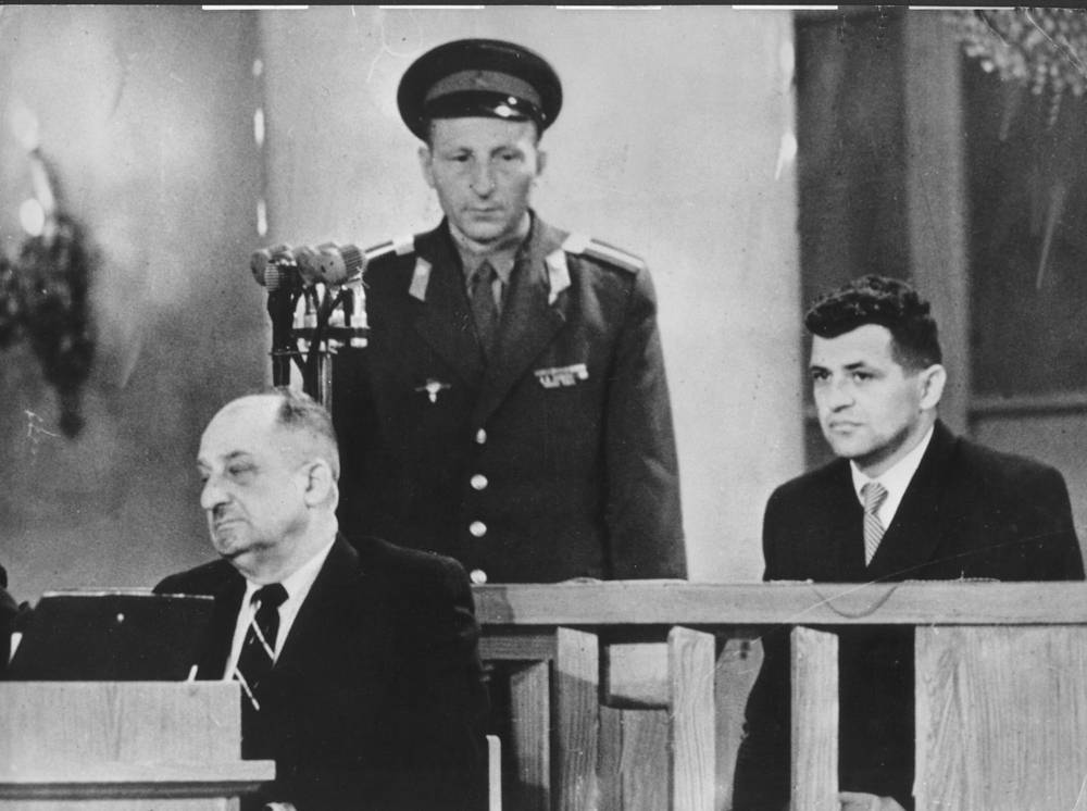 Гэри Пауэрс на судебном заседании в СССР