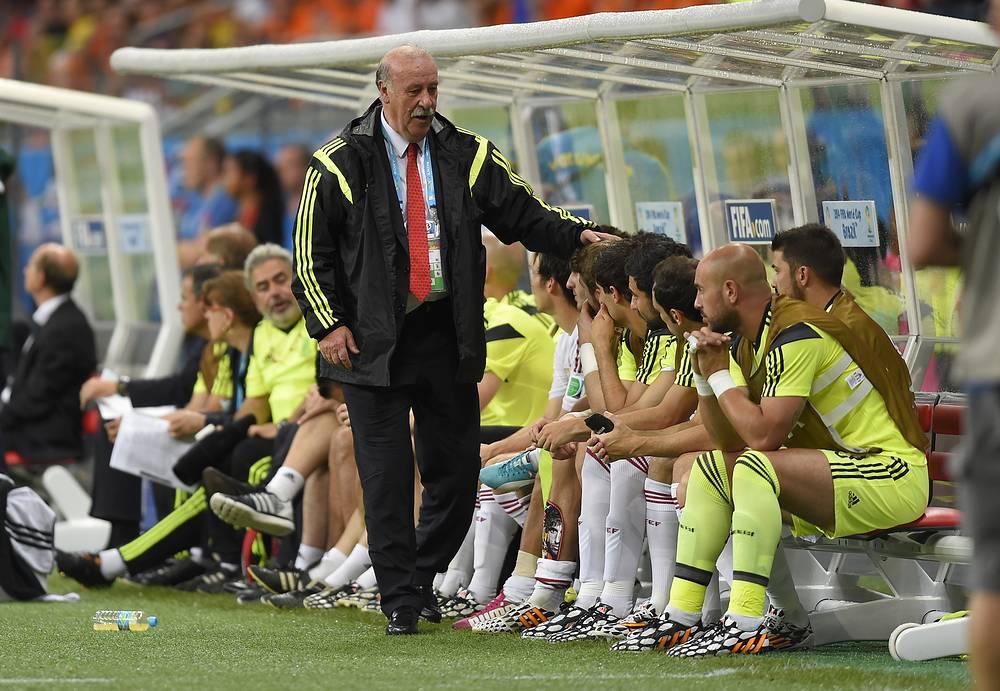 Тренер сборной Испании Висенте дель Боске