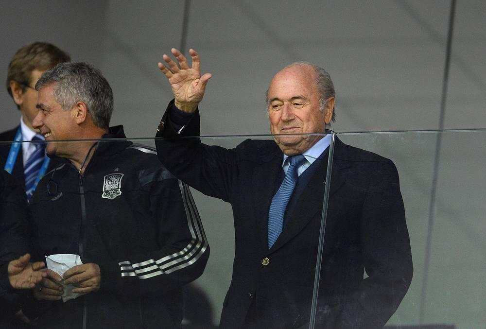 Матч посетил президент ФИФА Зепп Блаттер