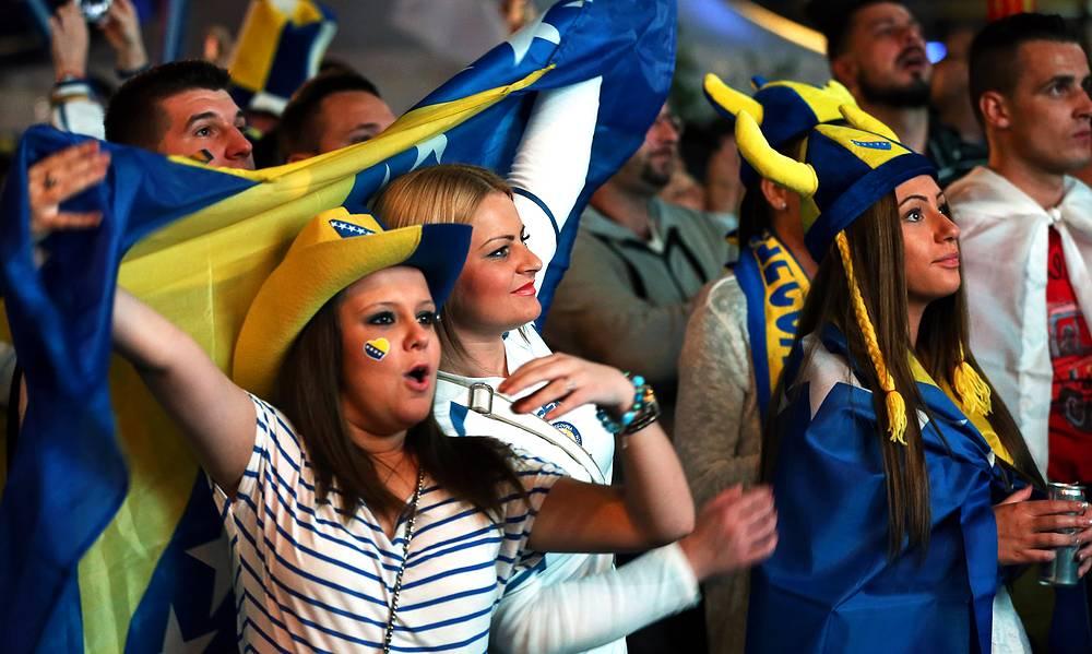 Фанаты сборной Боснии и Герцеговины