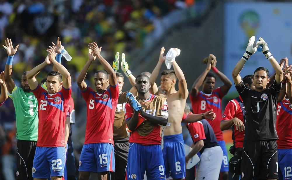 Сборная Коста-Рики впервые в истории вышла в плей-офф с первого места