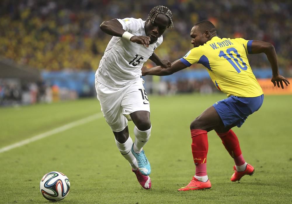 Прорыв по флангу защитника сборной Франции Бакари Санья