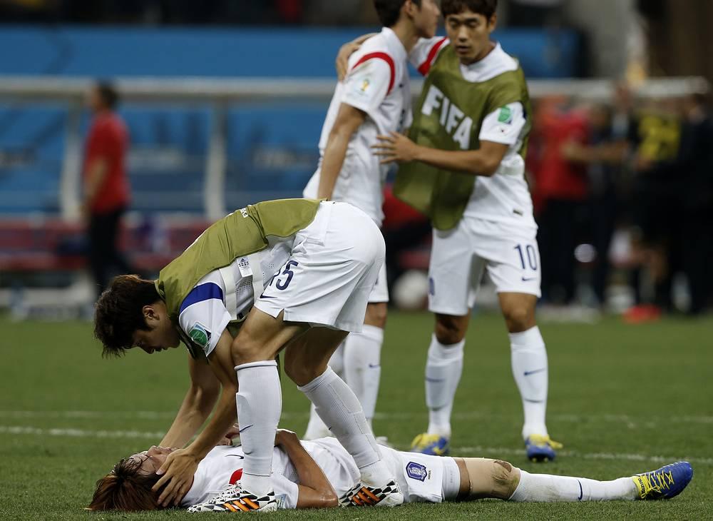 Не осталось сил у футболистов сборной Южной Кореи