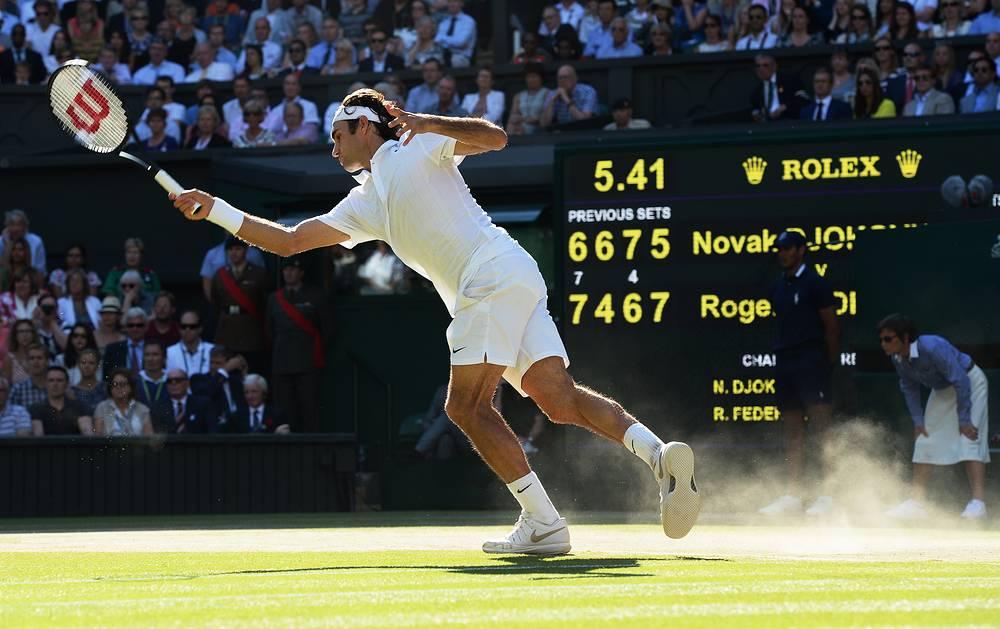 Роджер Федерер не смог удержать свое приемущество