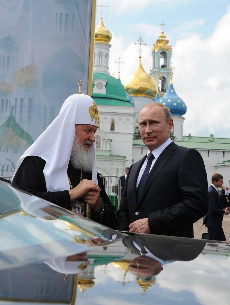 Президент РФ принял участие в праздновании 700-летия Сергия Радонежского в Сергиевом Посаде