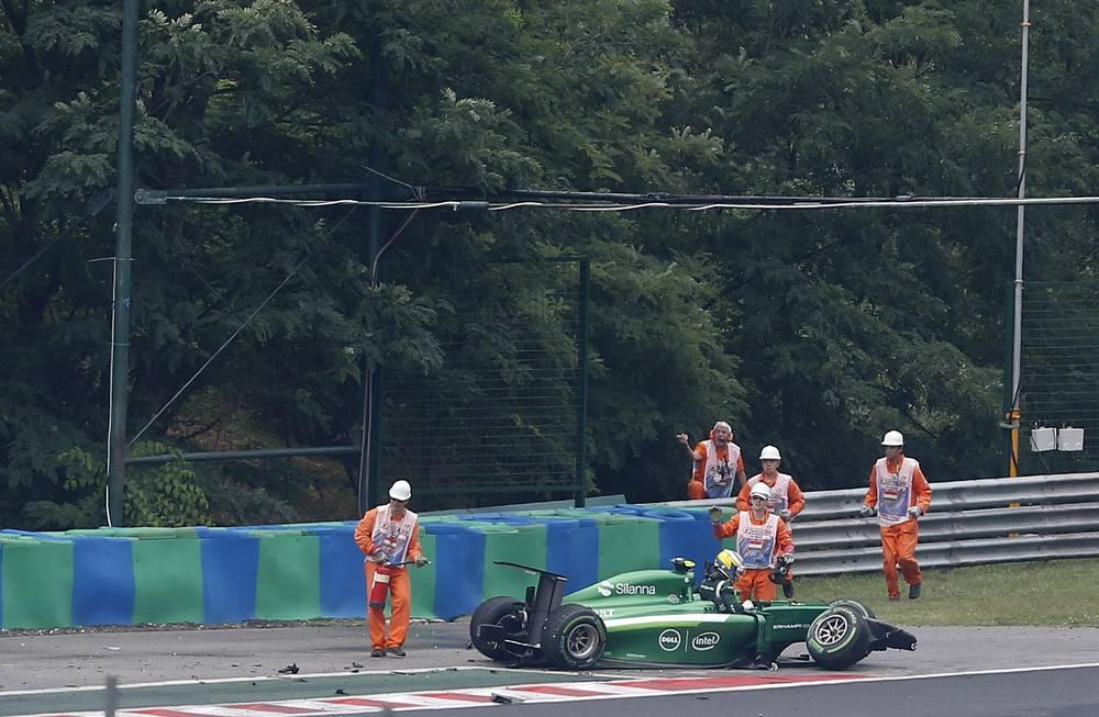 Маркус Эрикссон разбил машину на 9-м круге