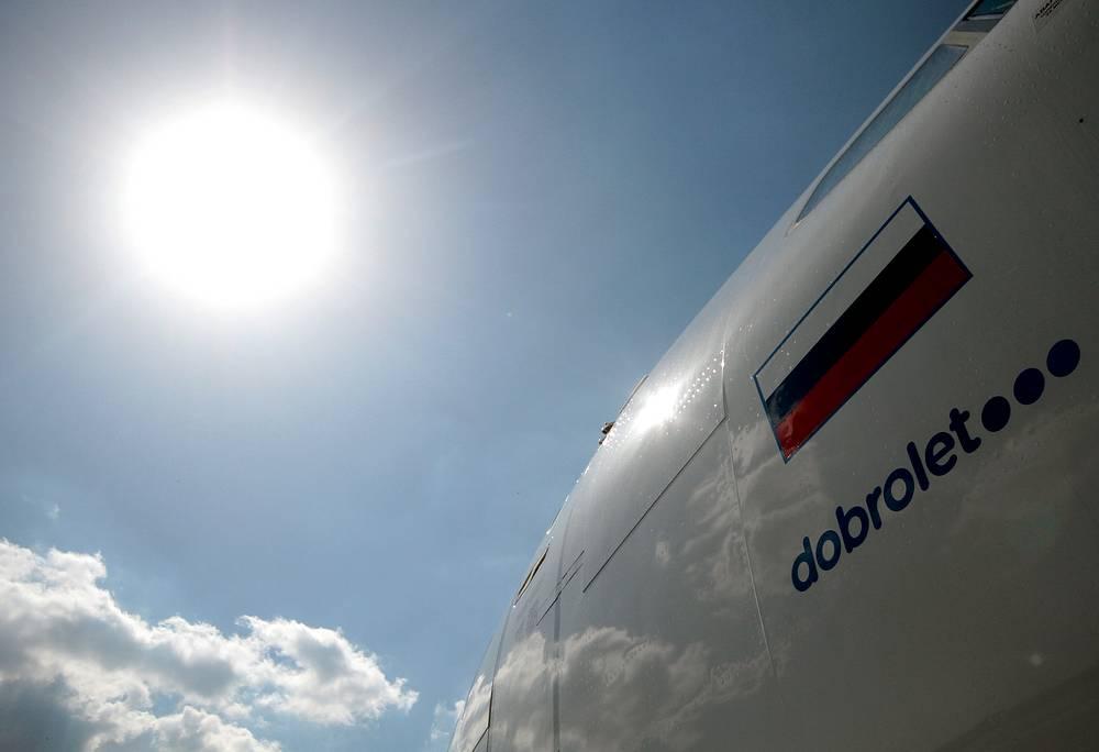 """Российский лоукостер """"Добролет"""" оказался в санкционном списке ЕС. Предусмотрены замораживание счетов и запрет на транзакции. Авиадискаунтер - дочерняя компания """"Аэрофлота"""". Осуществляет рейсы в Симферополь"""