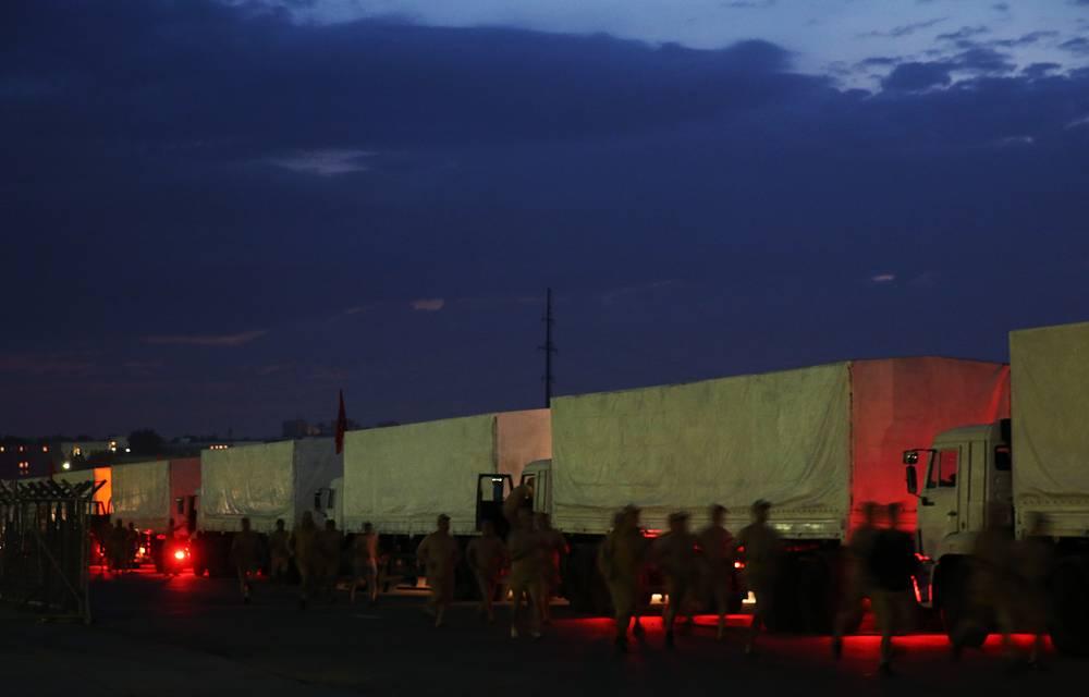 В состав колонны входят порядка 280 грузовых автомобилей