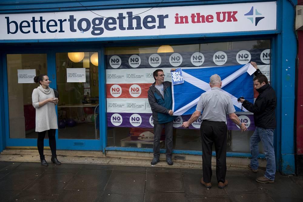 """Кампания """"Лучше вместе"""" (Better Together) проводилась от имени противников независимости Шотландии"""
