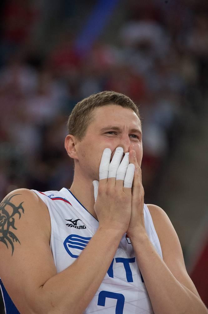 Игрок российской сборной Николай Апаликов