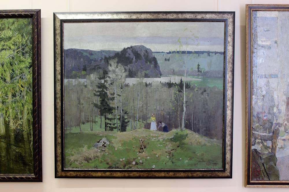 "Е. Гудин ""Весна"". Холст, масло. 1959 год"