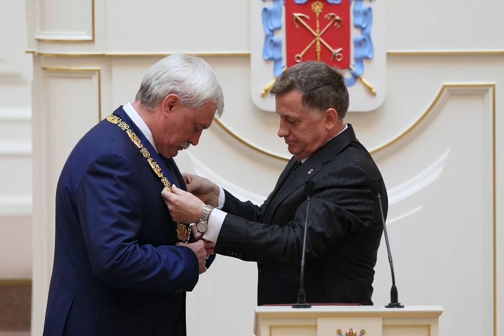 Георгий Полтавченко и председатель Законодательного собрания Санкт-Петербурга Вячеслав Макаров