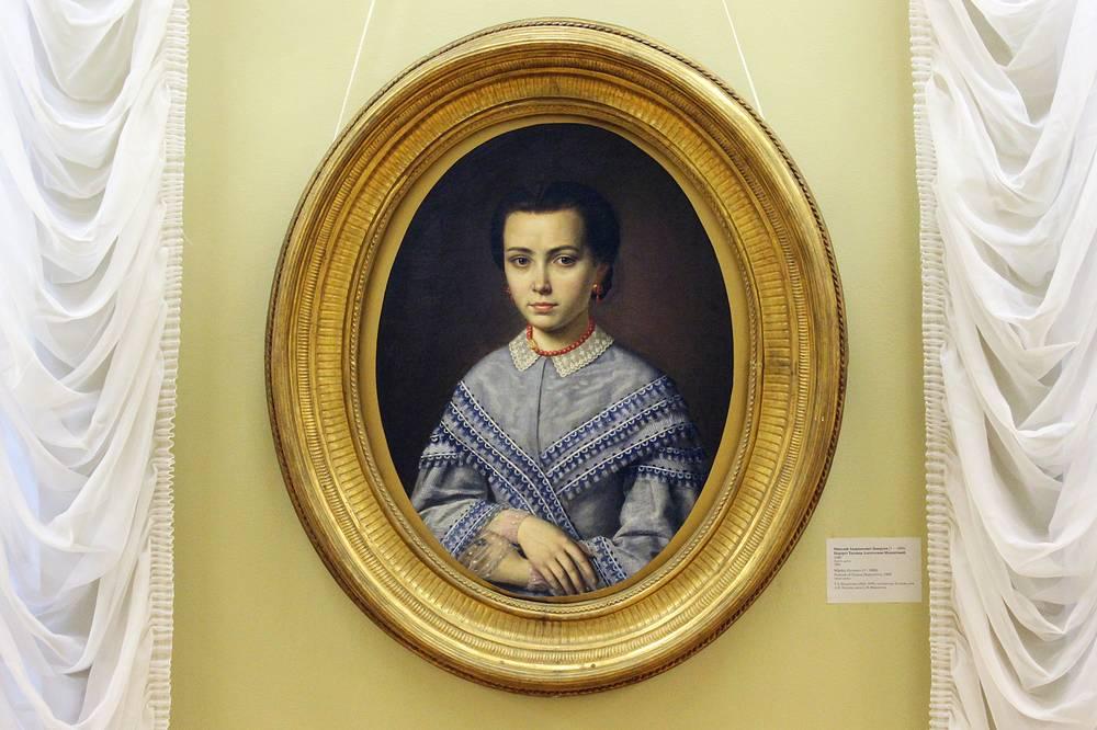 Портрет Татьяны Мамонтовой. Николай Заваруев. Холст, масло. 1860 год