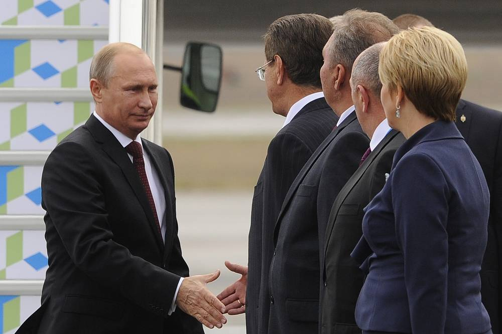 """Владимир Путин подчеркнул, что у лидеров """"пятерки"""" есть настрой выйти на взаимоприемлемые договоренности, которые будут способствовать дальнейшему наращиванию экономического сотрудничества и безопасности в регионе"""
