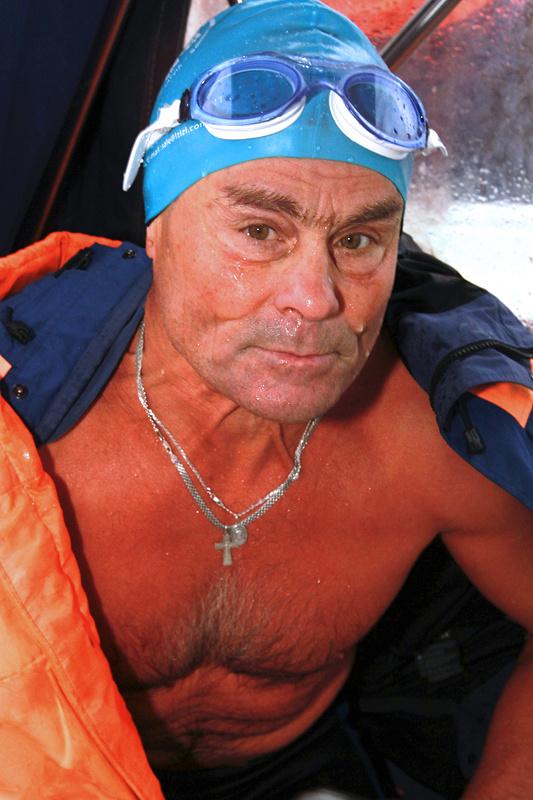 Николай Глушков после заплыва