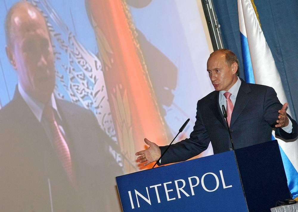 В 2008 году 7 октября премьер-министр Владимир Путин посетил 77-ю сессию Генеральной ассамблеи Интерпола, которая впервые прошла в России