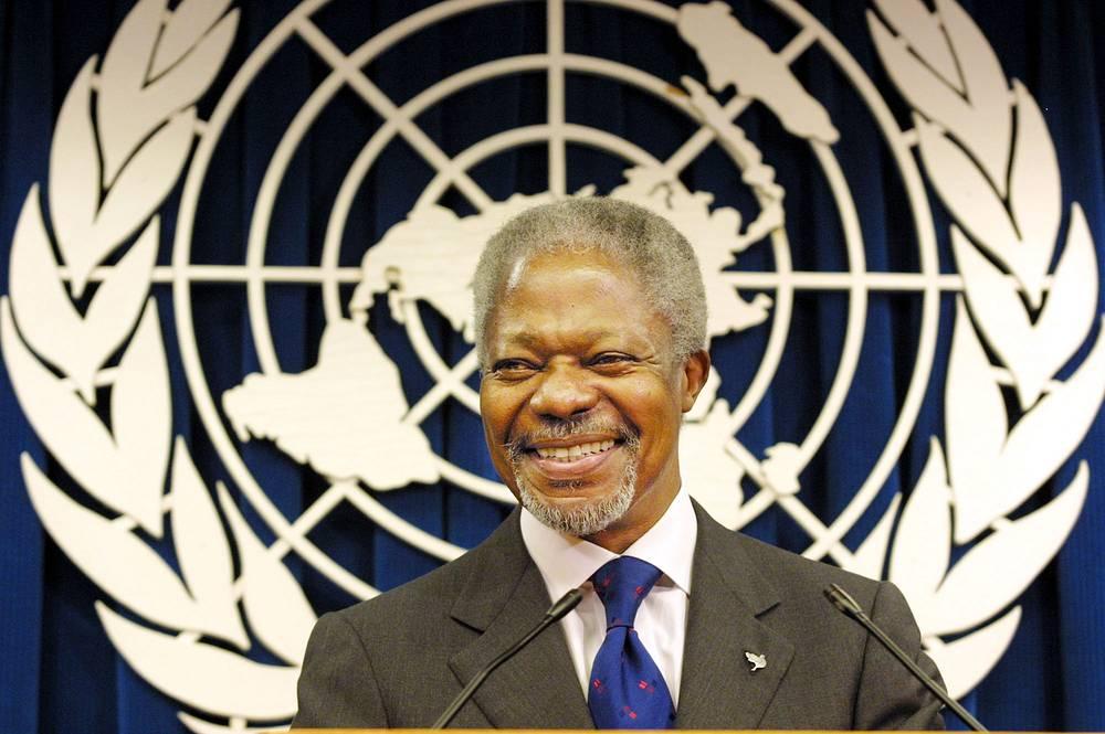 ООН и ее генеральный секретарь Кофи Аннан (2001) - за вклад в создание более организованного мира и укрепление мира во всем мире
