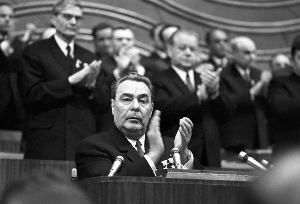 Во время выступления на XXIV съезде КПСС, 1971 год