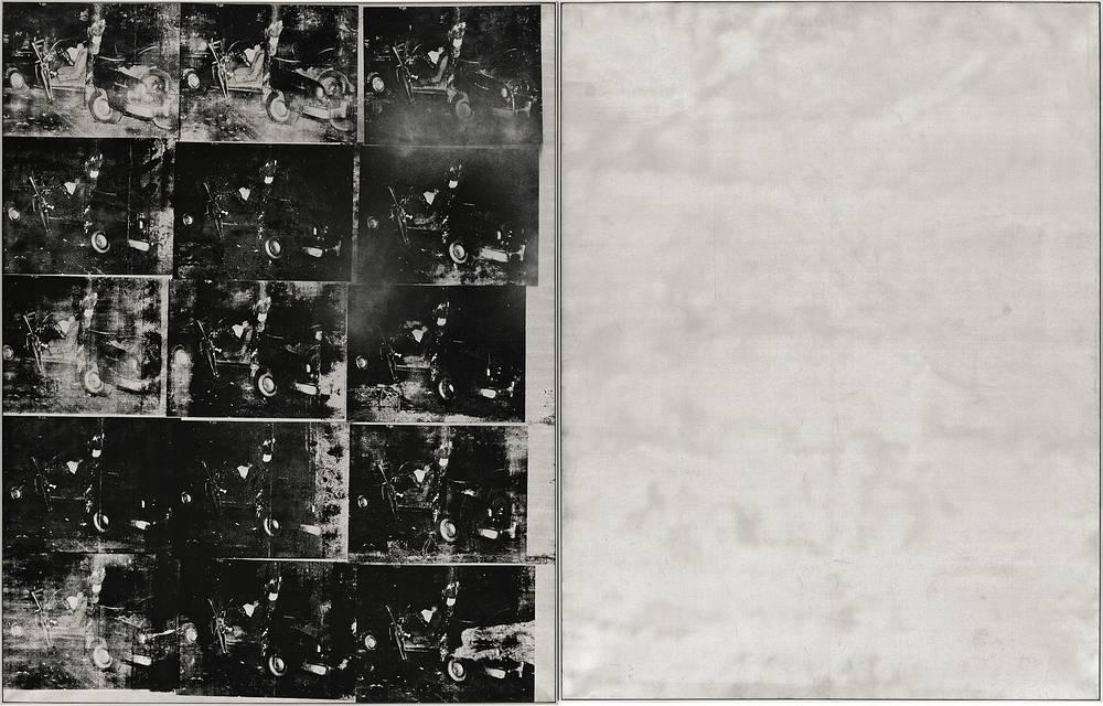 """В 2013 году в Нью-Йорке неизвестный покупатель приобрел за $105,4 млн шелкографию американского художника Энди Уорхола """"Авария серебряной машины"""", написанную 1963 году"""