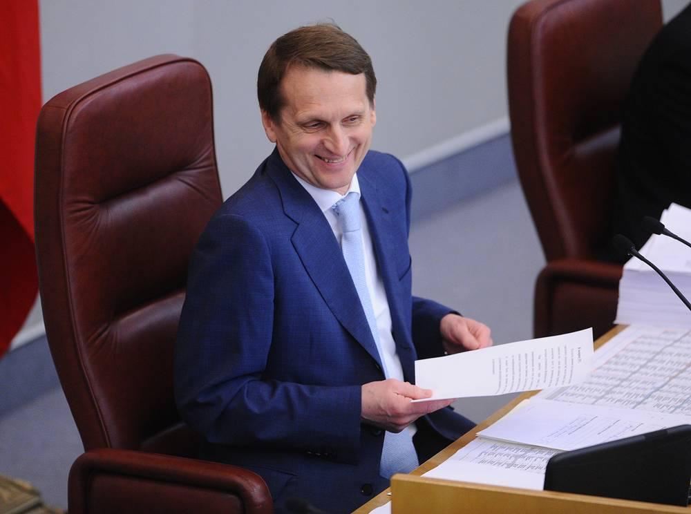 Нарышкин был инициатором установления 27 апреля новой памятной даты - Дня российского парламентаризма. На фото: пленарное заседание Госдумы, 2012 год