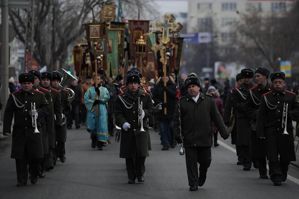Музыканты оркестра штаба Центрального военного округа