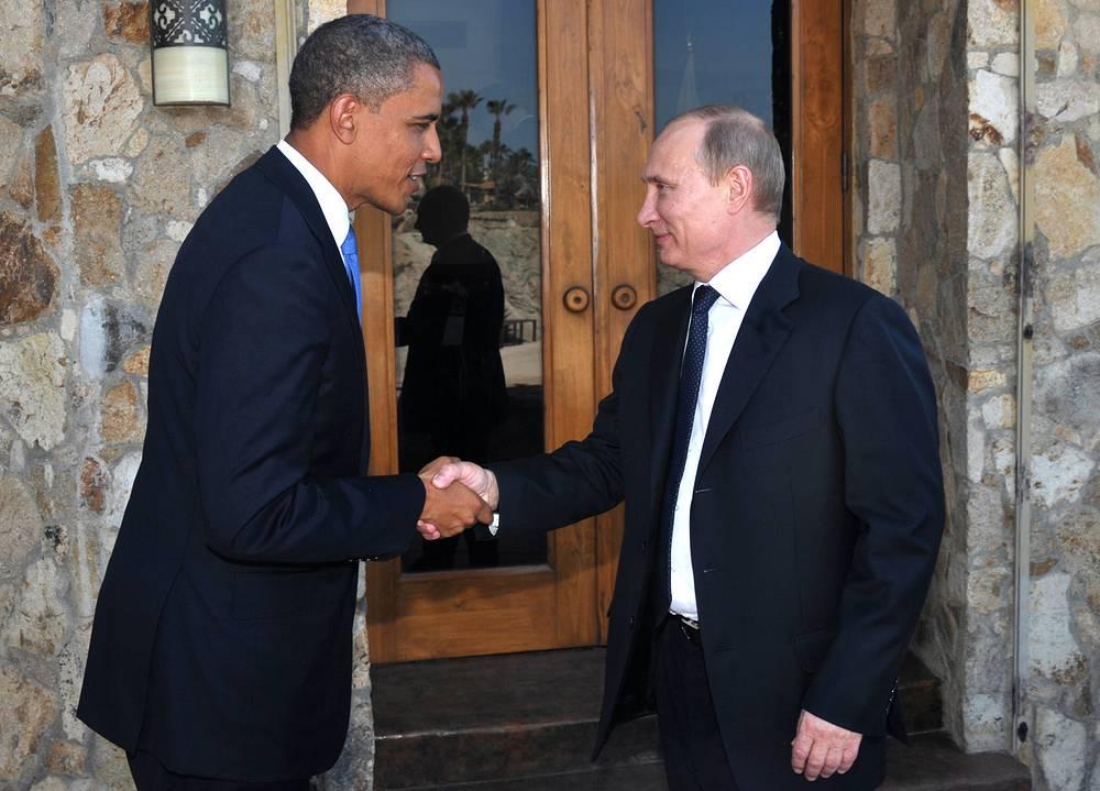 """Встреча Путина и Обамы, по словам Дмитрия Пескова, продемонстрировала """"конструктивный, открытый диалог не в минус, а в плюс"""". На фото: на саммите G20 в Мексике, 2012 год"""