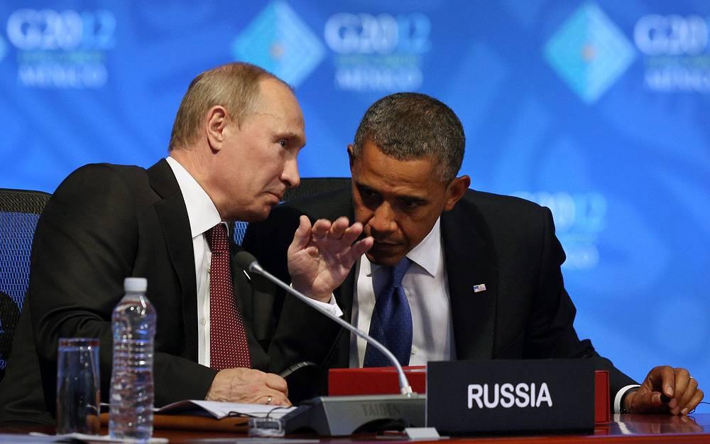 По итогам двусторонней встречи президенты приняли совместное заявление. Шестистраничный документ, в частности, содержал позиции двух стран по проблемам Сирии, Ирана, КНДР и Афганистана. На фото: перед открытием пленарного заседания сессии G-20 в Лос-Кабосе, Мексика, 2009 год
