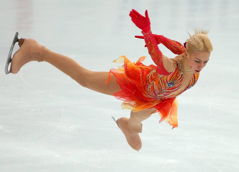 Россиянка Анна Погорилая (на фото) заняла второе место, уступив только японке Рики Хонго, и гарантировала себе место в финале серии.