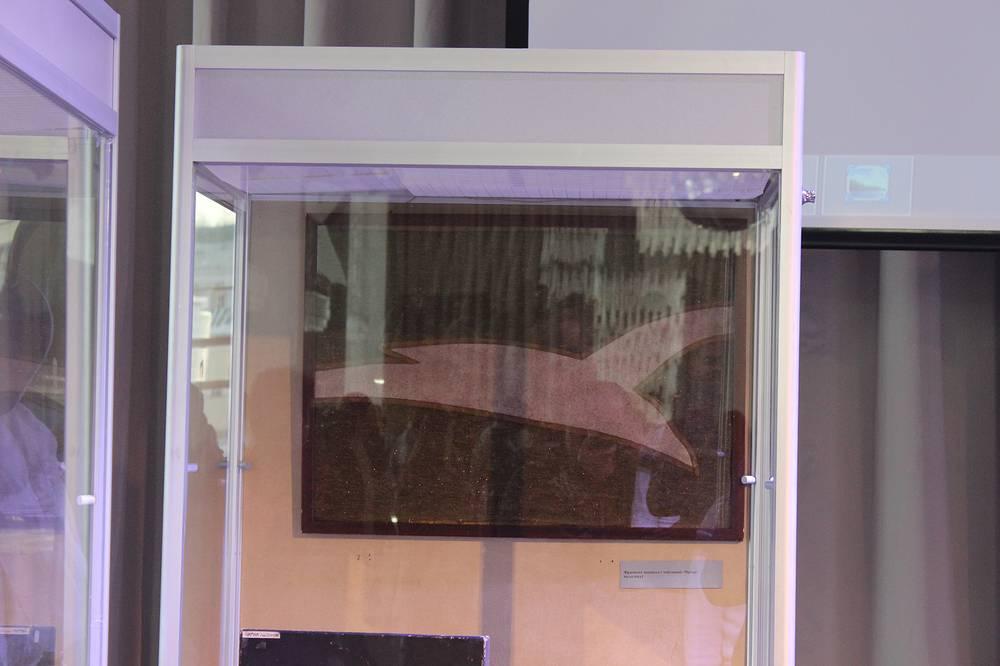 Фрагмент первого исторического занавеса МХАТа с изображением чайки. XIX век. Музей МХАТ
