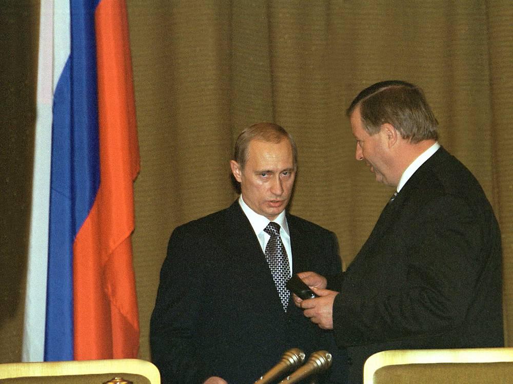 Президент РФ Владимир Путин и председатель Госдумы Геннадий Селезнев