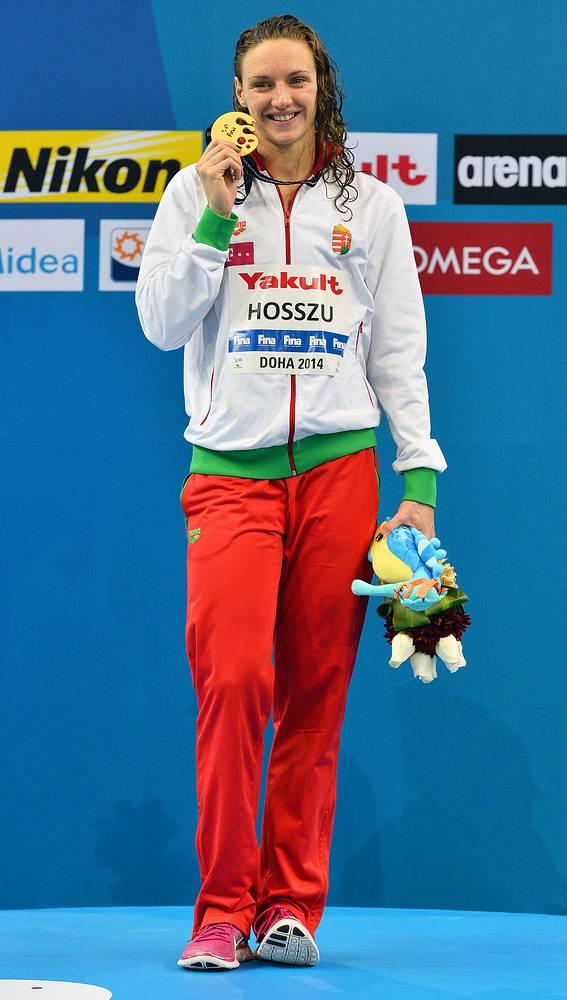 Венгерская пловчиха Катинка Хоссу, выступая в Катаре, завоевала четыре золота и стала автором четырех мировых рекордов