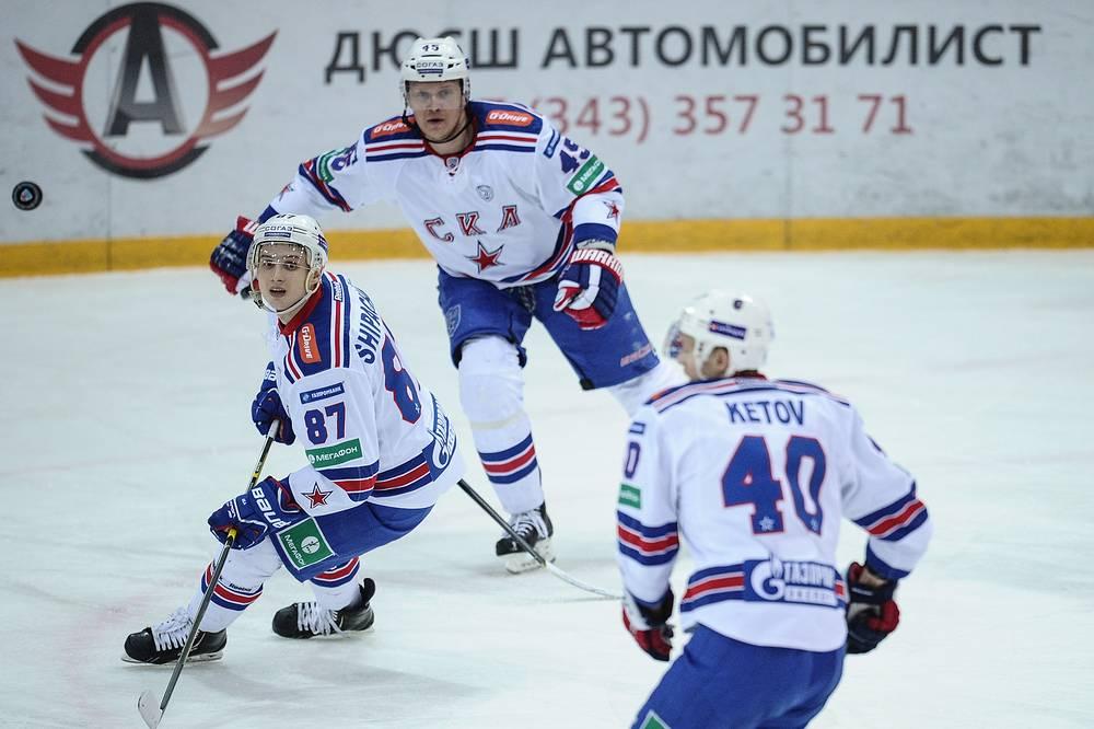 Игроки СКА Вадим Шипачев, Андрей Кутейкин и Евгений Кетов (слева направо)