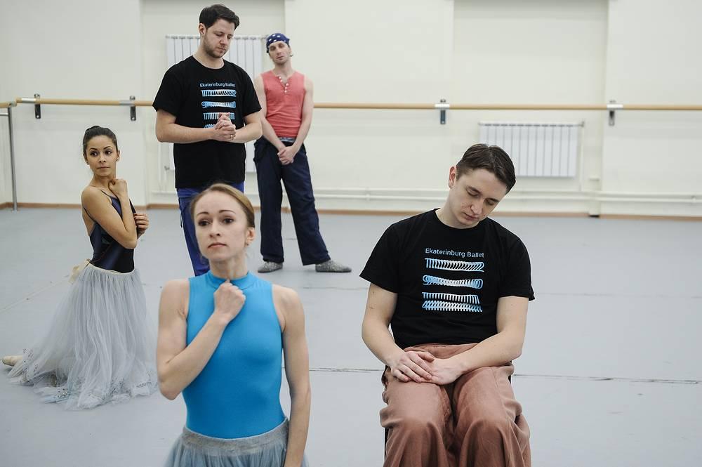"""На репетиции балета """"Тщетная предосторожность"""""""