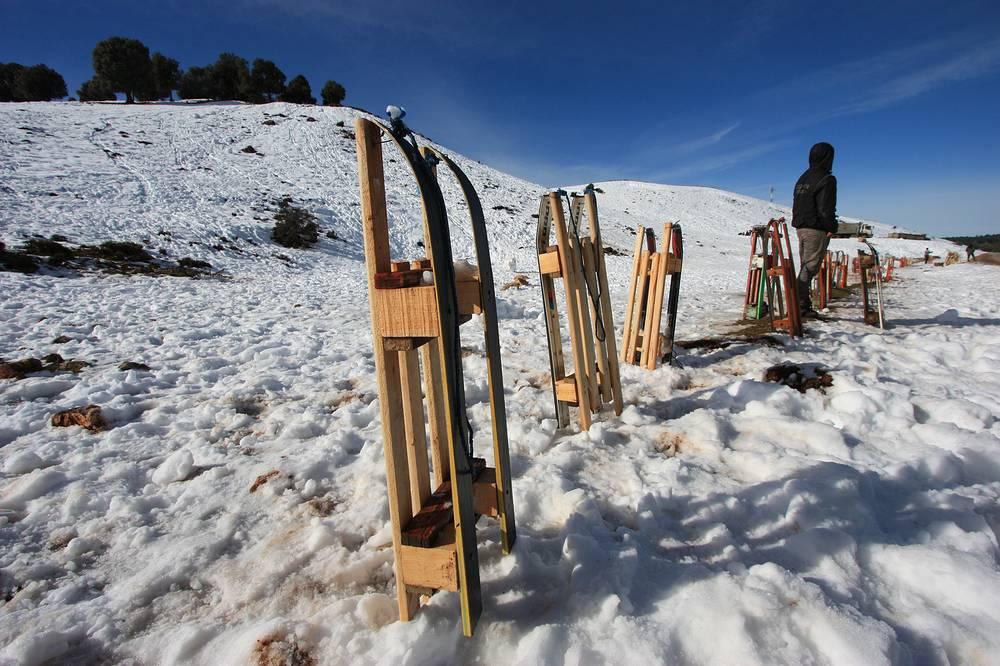 Любителей снежных забав по-африкански не отпугивают ни холодный воздух, ни внезапные метели