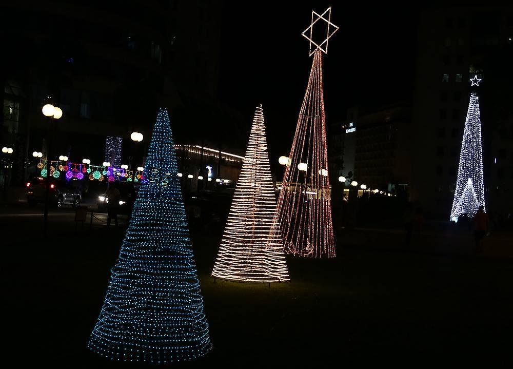 Рождественская иллюминация в Коломбо, Шри-Ланка