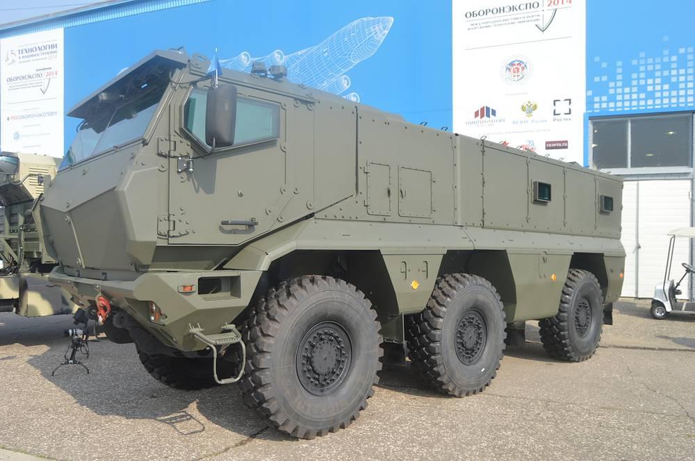 "ББМ класса MRAP КАМАЗ-63968 ""Тайфун"" 6х6 на ""Оборонэкспо 2014"""