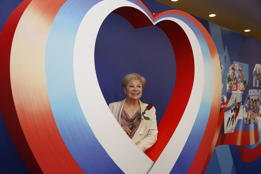 Лариса Латынина во время Бала олимпийцев России-2014 в Государственном Кремлевском дворце. 30 мая 2014 года