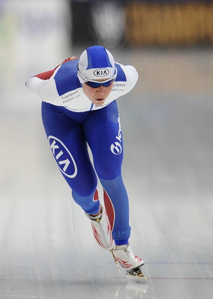 Российская конькобежка Ольга Граф, занявшая пятое место на дистанции 1500 метров