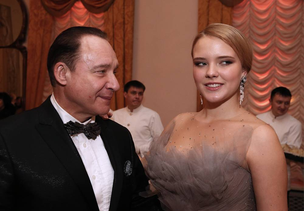 Максим Дунаевский с дочерью Марией, 2014 год