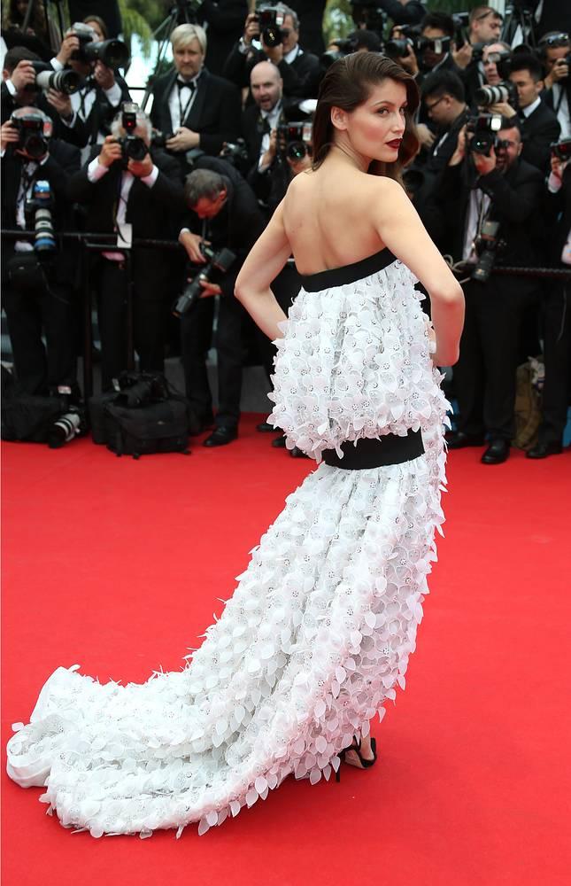 """Летиция Каста на премьере фильма """"Принцесса Монако"""" на 67-м Международном кинофестивале в Каннах, 2014 год"""