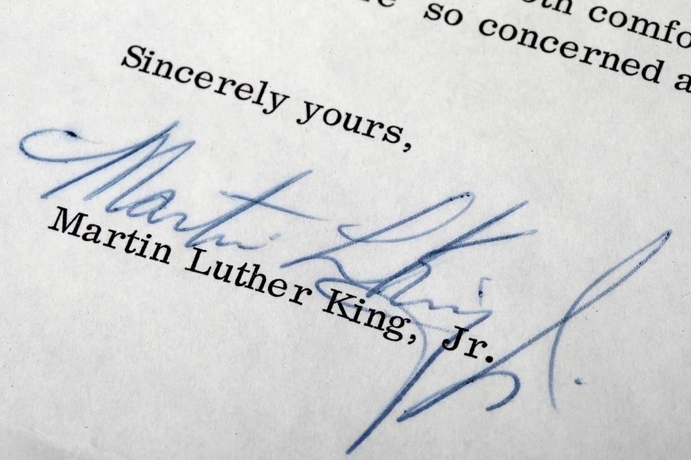 Подпись Мартина Лютера Кинга